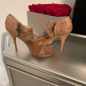 MaxStudio Nude sandals heels